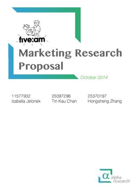 How to write a marketing research proposal? Is it